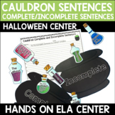 Complete or Incomplete Sentence Center - Cauldron Sentences