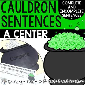 Cauldron Sentences Center Game