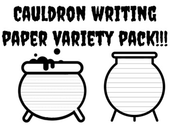 Cauldron Writing Paper With Lines Cauldron Template With Lines Cauldron Writing