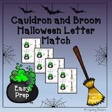 Cauldron and Broom Halloween Letter Match