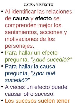 Causa y Efecto - Cause & Effect - Spanish