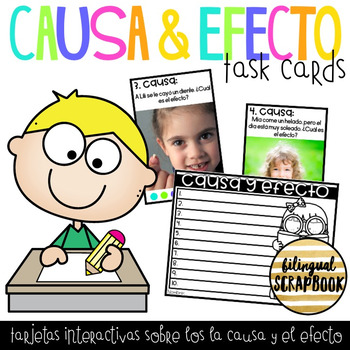 Causa y Efecto (Cause and Effect Task Cards)
