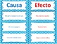 Causa y Efecto - Cause and Effect Task Cards - Spanish