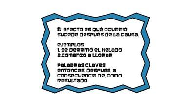 Causa y Efecto Spanish Mini-unit