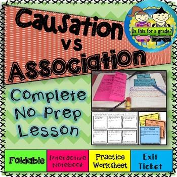 Causation vs Association (Correlation) Foldable, Activity, Practice, & Exit