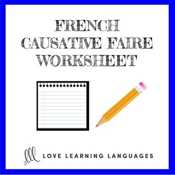 Causative Faire -  French grammar quiz or worksheet