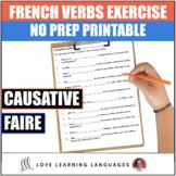 Causative Faire -  French grammar quiz or worksheet