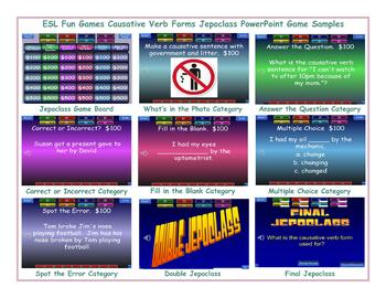 Causative Verb Forms Jeopardy PowerPoint Game