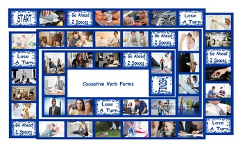 Causative Verb Forms Legal Size Photo Board Game