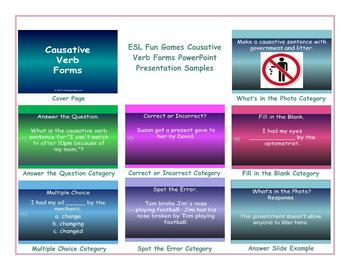 Causative Verb Forms PowerPoint Presentation