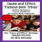 "Cause And Effect ""Book Trivia"" Fun Reading Activity, Group Fun"