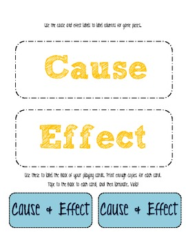 Cause & Effect 1-2-3!