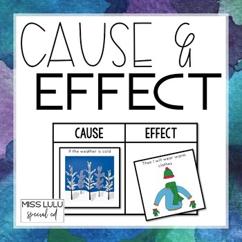 Cause & Effect Activity for Special Education