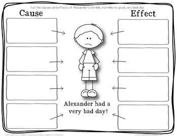 Cause & Effect {Alexander and the Terrible, Horrible, No Good, Very Bad Day}