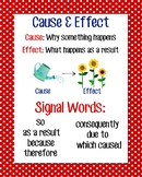 Cause & Effect Anchor Chart, Red Polka Dot