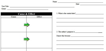 Cause & Effect - Author's Purpose, Theme, & Central Idea