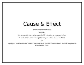 Cause & Effect Center
