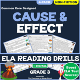 Cause & Effect in Informational Texts Reading Comprehension Worksheets   GRADE 3