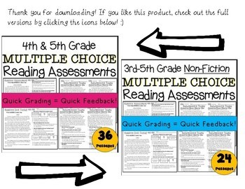 Cause & Effect FREEBIE Multiple Choice 3rd-5th