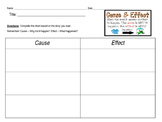 Cause & Effect Graphic Organizer