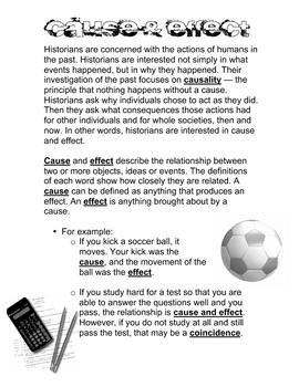 Cause & Effect - Handout