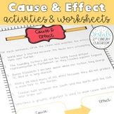 Cause & Effect Interactive Notes and Worksheets