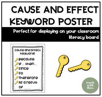 Cause & Effect Keywords Poster