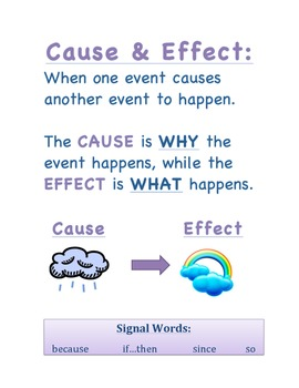 cause and effect in literature