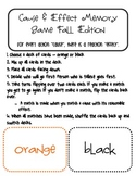 Cause & Effect Memory Game - Fall/ Halloween Edition