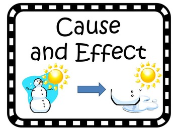Cause And Effect Mini Lesson and Mini Assessment