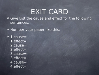 Cause Effect PPT, activity, and assessment