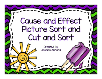 Cause Effect Picture Match and Cut and Sort