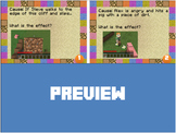 Cause & Effect, Problem & Solution Minecraft Task Cards -