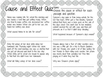 Cause & Effect Quiz