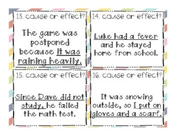 Cause and Effect SCOOT! Game, Task Cards or Assessment