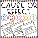 Cause and Effect SCOOT! Game, Task Cards or Assessment- Distance Learning