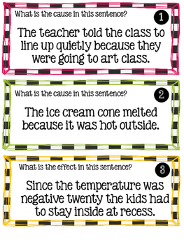 Cause & Effect Scoot & Anchor Charts