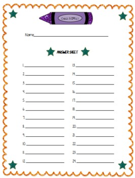 """Cause & Effect"" Self Checking Task Cards for Independent Centers"