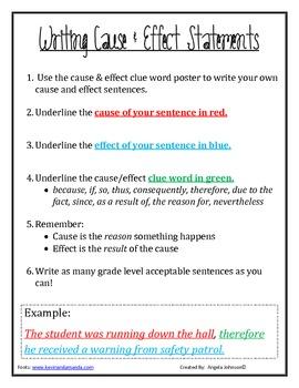 Cause & Effect Sentences