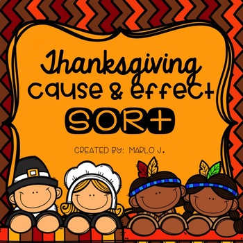 Cause & Effect Sort Thanksgiving