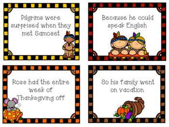 Cause & Effect Sort Thanksgiving