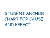 Student Anchor Chart for Cause Effect