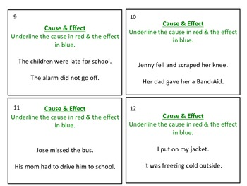 Cause & Effect Task Cards