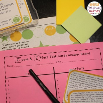 Cause & Effect Task Cards {40 Differentiated Cards, Poster, Game Board, +More!}