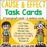 Cause & Effect Task Cards {40 Differentiated Cards, Poster