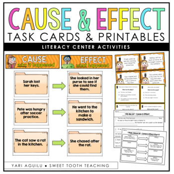 Cause & Effect Task Cards/Printables