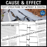 Cause and Effect Text Structure Reading Comprehension Passages