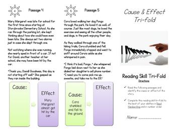 Cause & Effect Tri-fold