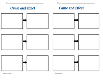 Cause & Effect and Compare & Contrast Mini Graphic Organizers