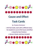 Cause and Effect: 40 Task Cards Common Core Standard CCSS.ELA-Literacy.W.6.2a